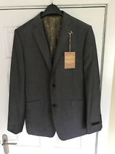 Men's BNWT New TED BAKER Grey 100% Wool Tailored Jacket Blazer 42 Chest