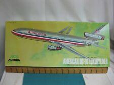Vintage 1972, Aurora Model American DC-10 Luxuryliner Model Box, decal, instruct