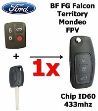 FORD BF FG Falcon Territory Mondeo FPV 3 Button Transponder Remote Flip Key