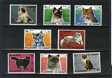 Fujeira 3165.6km 206-213a Ensemble de chats of 8 TIMBRES MNH