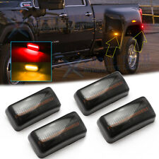 Smoke Lens Amber Red LED Rear Fender Marker Lights For Chevy GMC 2500/3500HD 15+
