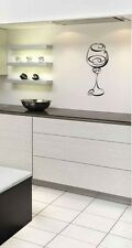 Wine glass Wall Art Sticker Home Kitchen Dining Room Lounge