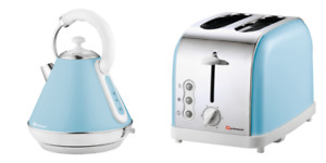 SQ Professional Gems Legacy 2 Slice Toaster And 1.7L Kettle Set  Skyline/Skyblue