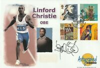 6 APRIL 1999 SETTLERS TALE FDC HAND SIGNED BY LINFORD CHRISTIE OBE SHS