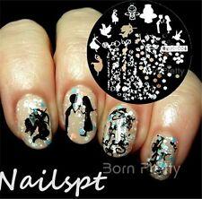 Nagel Schablone Stempel Nageldesign Nail Art Stamp Image Plate Stamping Qgirl004