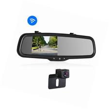 """Rückfahrkamera Set K2 Drahtlos mit 14.4 cm/4.3"""" Zoll LCD Farbdisplay Rückspiegel"""