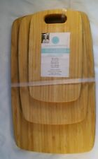 NEW Martha Stewart 3Pc Bamboo Cutting Board Set