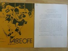 WHA CHICAGO COUGARS vs NEW ENGLAND WHALERS Dec 13 1972 Program KNIBBS TED GREEN