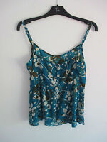 Ladies Vero Moda blue & brown camisole top size L (approx size 16)