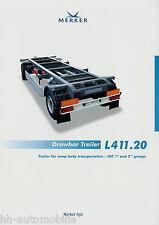 Prospekt GB Merker Drawbar Trailer L411.20 8 02 2002 brochure Anhänger LKWs