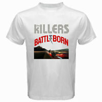 New THE KILLERS *BATTLEBORN Rock Band Men's White T-Shirt Size S to 3XL