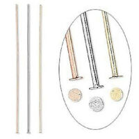 9784FY Headpin Pin Mix Finding Silver Copper Gold ptd Brass 2 in  24ga, 144 Qty