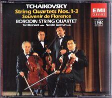 BORODIN STRING QUARTET: TCHAIKOVSKY 1-3 Souvenir de Florence BASHMET GUTMAN 2CD