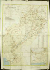 Road Map of West Pakistan / 1958 Second Edition.