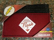 "The Flash ""Scalet Speedster"" Red Felt ID Cardholder Wallet DC Comics New"