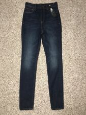 Express Womens Jeans Legging Sz 2 Reg Inseam 30 Super High Rise Button Fly NWD