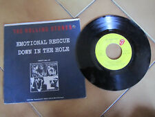 "THE ROLLING STONES Emotional Rescue / Down in the Hole 45 Giri 7"" 1980 Vinile"