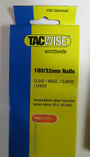 1000 pack TACWISE/Stanley/Rapid 180/32mm 18g Nails 191 191EL Nailer/Staple guns