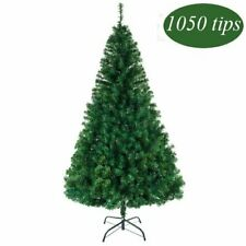 6ft Premium Artificial Hinged Christmas Tree with Branch Tips and Metal Stand UK