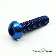 1x Titanium screws M6 x 20 mm, ISO 7380, Pan head, blue