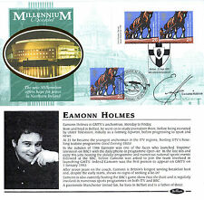 SEPTEMBER 1999 MILLENNIUM BENHAM SIGNED EAMONN HOLMES FDC DUAL DATED SHSs