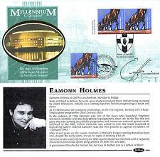 SEPTEMBER 1999 MILLENNIUM BENHAM SIGNED EAMONN HOLMES FDC DUAL DATED SHSs