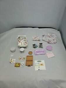 Calico critters sylvanian families Make Up Vanity Stool Accessories and Kittens