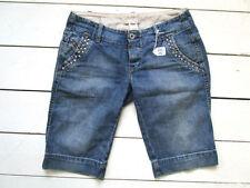 Diesel Patternless Denim Low Rise Shorts for Women