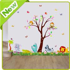 Animal Wall Stickers Dinosaur Monkey Zoo Jungle Nursery Baby Kids Room Decal Art