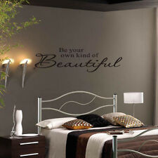 Be your own kind of Beautiful Vinyl Room Decals Art Words Quotes Wall Sticker LZ