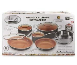 Gotham Steel 10-Piece Non-Stick Aluminum Cookware Set