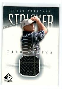 2001 SP Authentic Tour Swatch #SSTS Steve Stricker SP * (ref 187360)