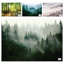 Fototapete WALD NEBEL 3D Vlies Tapete Bäume Landschaft Grün Natur + KLEISTER