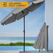 Grey 2M Garden Parasol Outdoor Umbrella Canopy Tilt Mechanism Grade A Refurb