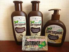 Tar Birch Organic Shampoo, Shower Gel, Soap - Antiseptic anti-inflammatory