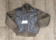 Breitling FLYING PILOT LEATHER jacket LARGE ALPHA INDUSTRIES brown USED CONDIT