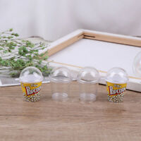 10pcs DIY Boba Charms Plastic Cups Miniature Cup with Dome Lid Doll Ho ESXI