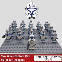 21Pcs Star Wars Captain Rex 501st Jet Troopers Minifigures For Lego