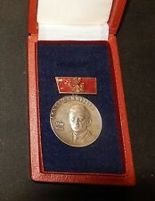 DDR Ernst-Schneller-Medaille  in Silber Silber 900  SELTEN