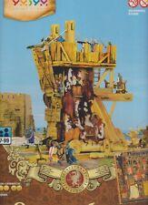 Cardboard model kit. The medieval town. Siege tower. Wargame landscape