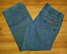 Carhartt Jeans Traditional Fit Blue Cotton Denim Mens Size 38x30