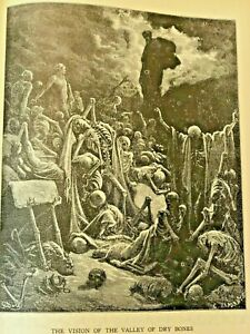 THE BIBLE IN PICTURES BY GUSTAVE DORE   B&W Illus. Gilt HB  no DJ   Gustave Dore