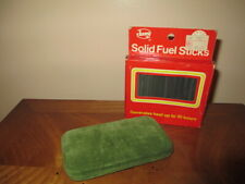 Vintage Green Felt Hand Warmer and 13 Solid Fuel Sticks