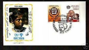 F.D.C.-409- ANNEE DE L'ENFANCE 1979  INDES