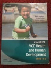 Cambridge VCE HEALTH & Human Development Units 1 & 2 With CD Rom. *Great*