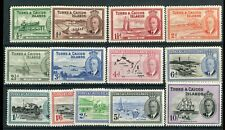 Turks & Caicos KGVI 1950 set of 13 SG221/33 MH