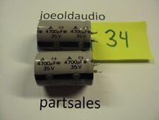 Technics Receiver SA-80 Capacitors 35V 4700UF. 1 Pair. Parting Out Entire SA-80.
