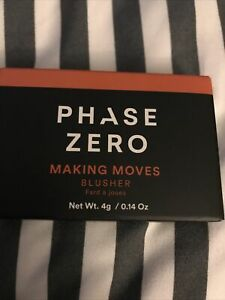 NEW Sealed PHASE ZERO MAKE UP Blusher Blush - Making Moves 4g / .14oz