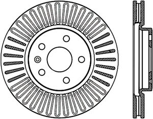 Disc Brake Rotor-Sport Drilled Disc Front Left Stoptech 128.62120L