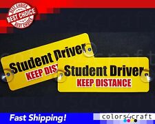 2X Two Removable Student Driver Signs Placard Holder Heavy Duty Removable decal